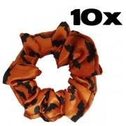 Kit com 10 Xuxinhas de Cetim - Morceguinho Laranja