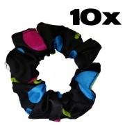 Kit com 10 Xuxinhas de Cetim - Poá Colorido