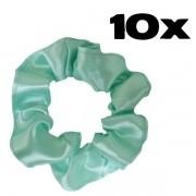 Kit com 10 Xuxinhas de Cetim - Verde Claro