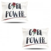 Kit com 2 Fronhas de Cetim - Girl Power