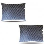Kit com 2 Fronhas de Cetim - Poá Azul Marinho