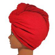 Toalha Turbante de Microfibra Vermelha