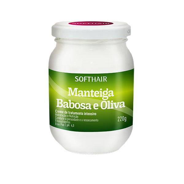 Creme de Manteiga Vegana - Babosa e Oilva - Soft Hair - 220g