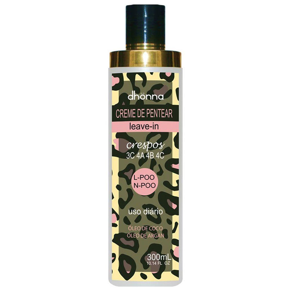 Dhonna - Uso Diário - Creme de Pentear - Crespos - 3C a 4C - 300ml