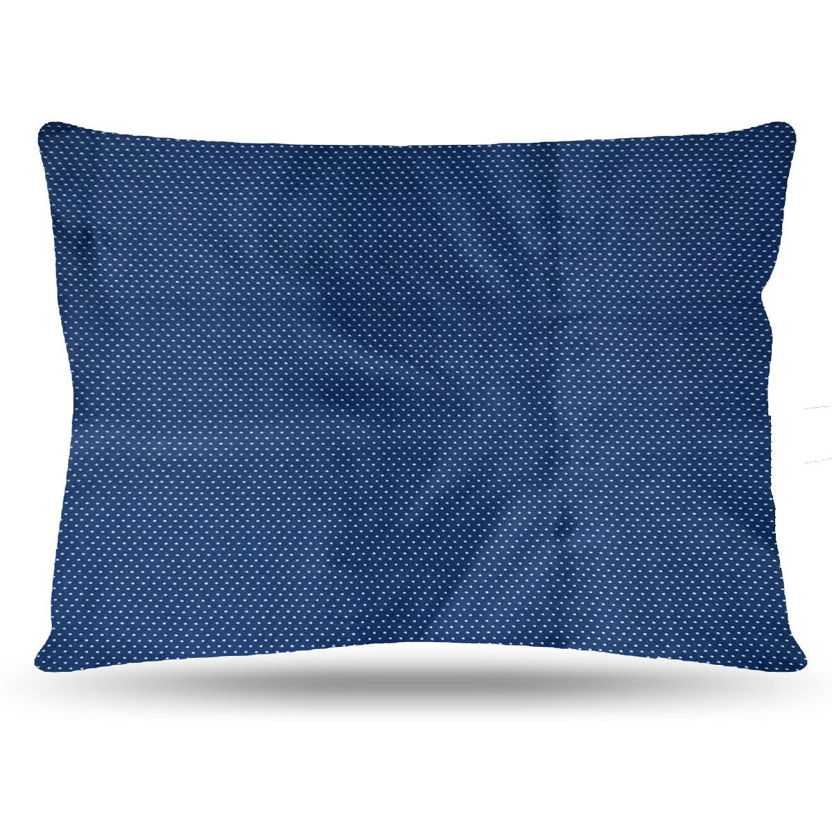 Fronha de Cetim - Azul com Bolinhas - Anti Frizz