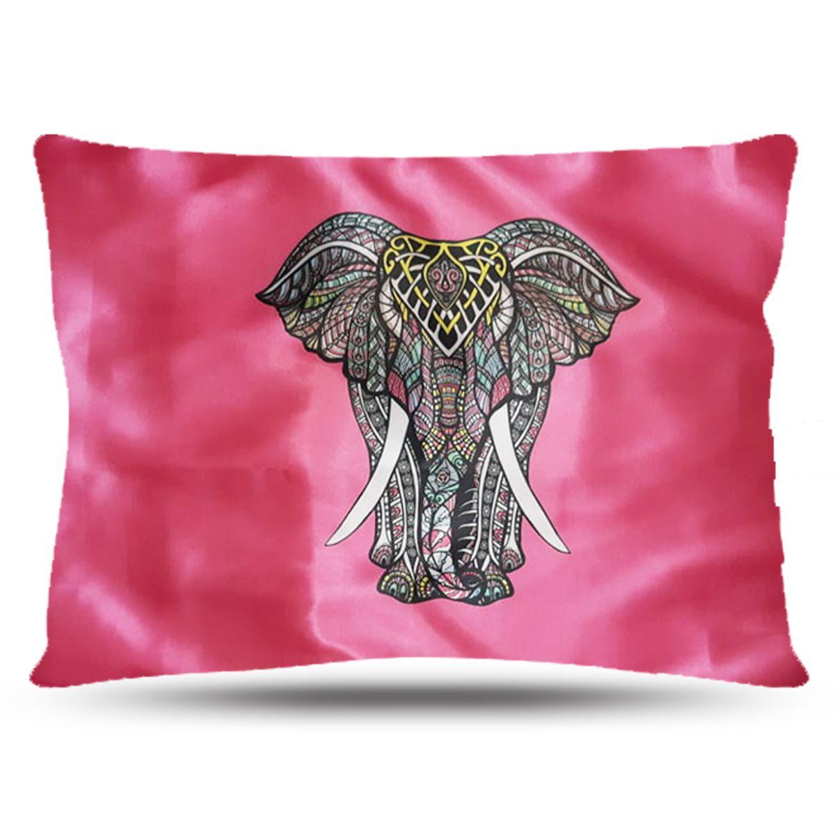 Fronha de Cetim - Elefante Rosa - Anti Frizz