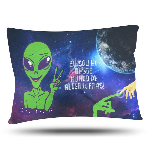 Fronha de Cetim Luxo - ET - Extraterrestre - Anti Frizz