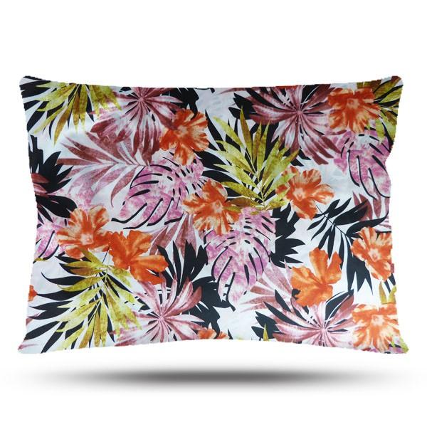 Fronha de Cetim - Floral Ferrugem - Anti Frizz