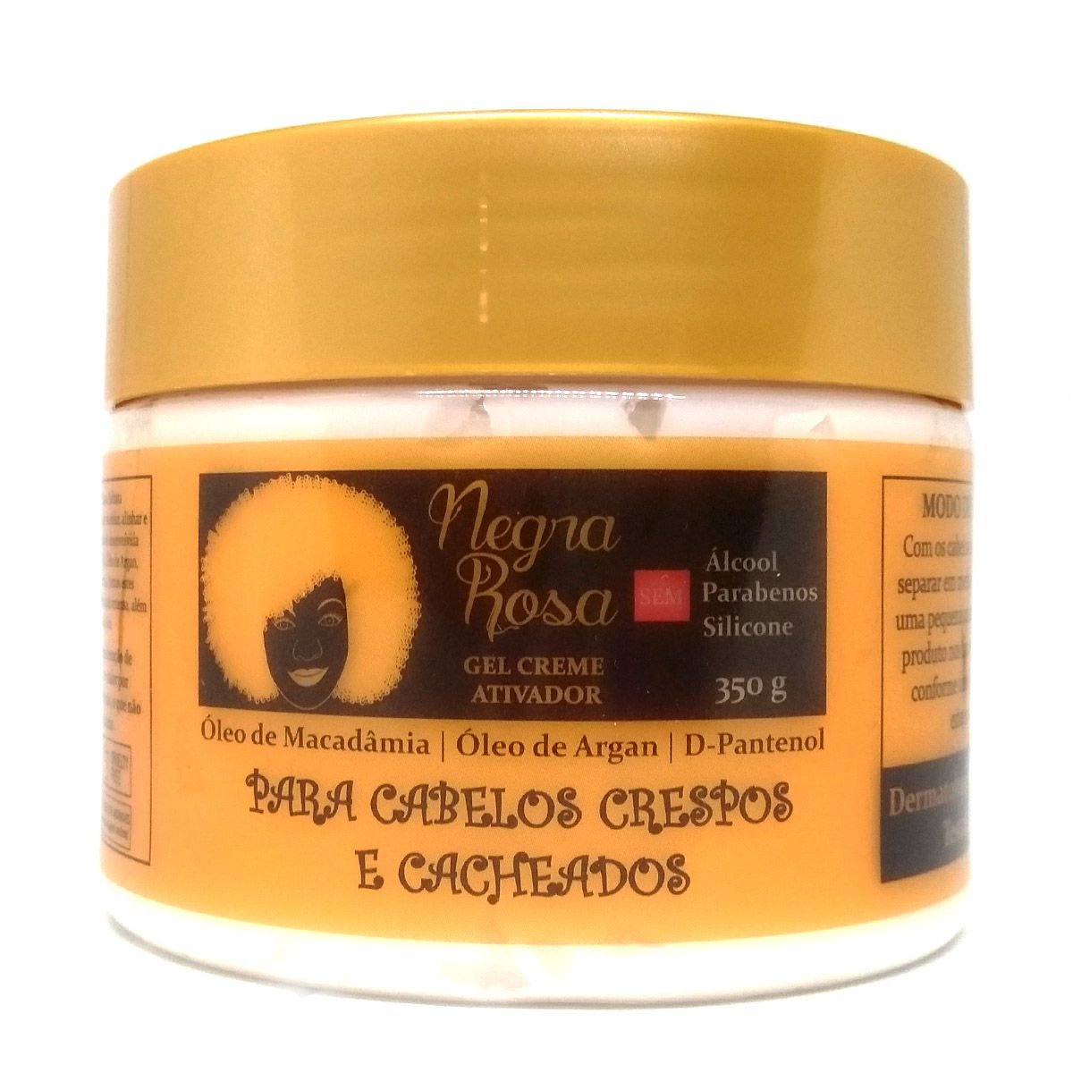 Gel Creme - Negra Rosa - 350g
