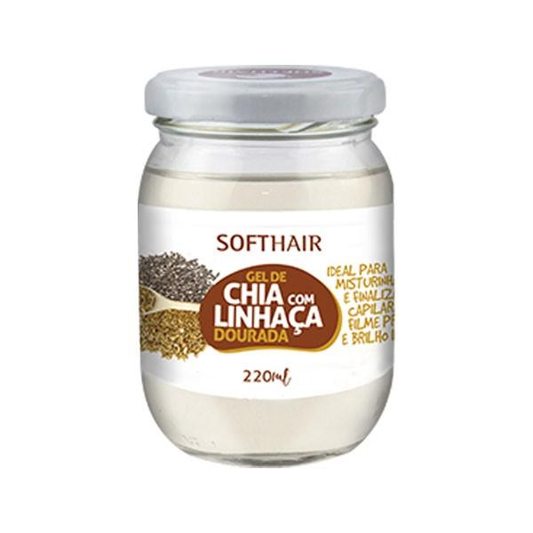 Gel de Chia com Linhaça Dourada - Soft Hair - 220ml