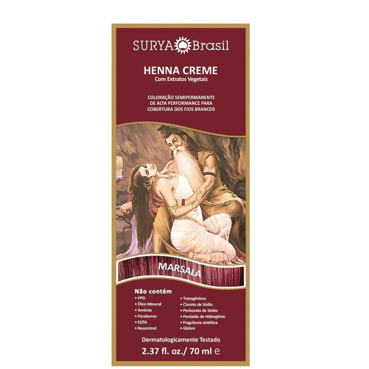 Henna Creme - Marsala - Surya Brasil