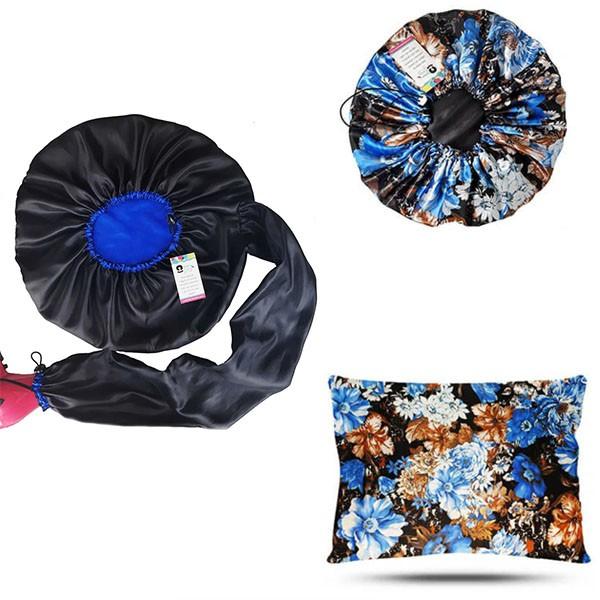 Kit 1 Difusora Azul - 1 Touca Floral Azul II e 1 Fronha Floral Azul II