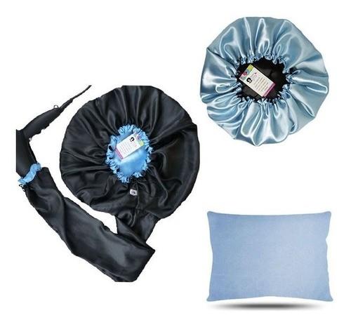 Kit 1 Difusora Azul Claro - 1 Touca Azul Claro e 1 Fronha Azul Claro