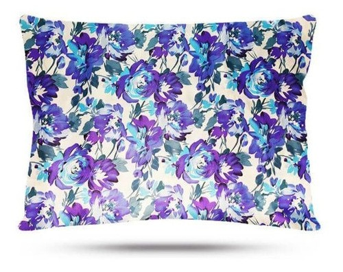Kit 1 Difusora Azul Claro - 1 Touca Floral Azul I e 1 Fronha Floral Azul I