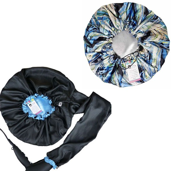Kit 1 Difusora Azul Claro e 1 Touca Abstrata B