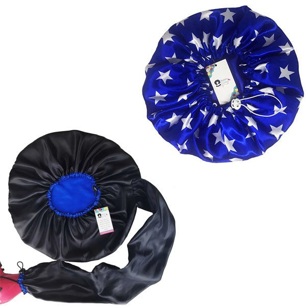 Kit 1 Difusora Azul e 1 Touca Azul de Estrelas