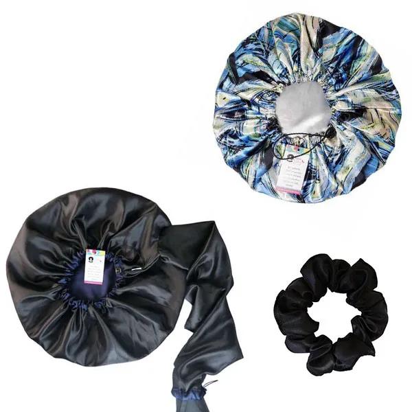 Kit 1 Difusora Azul Marinho - 1 Touca Abstrata B e 1 Xuxinha Preta