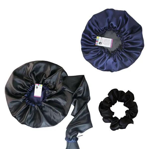 Kit 1 Difusora Azul Marinho - 1 Touca Azul Marinho e 1 Xuxinha Preta