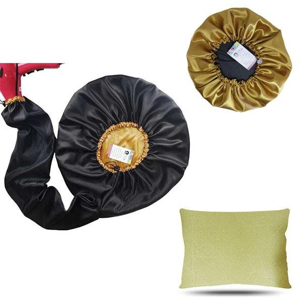 Kit 1 Difusora Dourada - 1 Touca Dourada e 1 Fronha Dourada