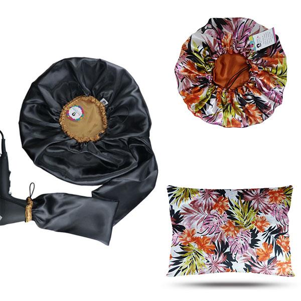 Kit 1 Difusora Dourada - 1 Touca Floral Ferrugem e 1 Fronha Floral Ferrugem