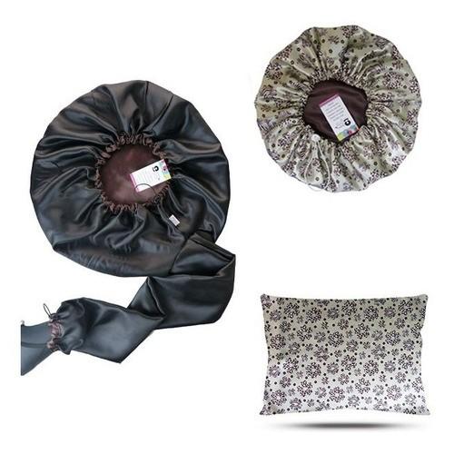 Kit 1 Difusora Marrom - 1 Touca Floral Animal e 1 Fronha Floral Animal