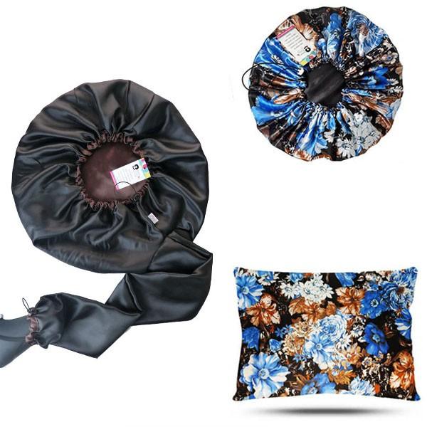 Kit 1 Difusora Marrom - 1 Touca Floral Azul II e 1 Fronha Floral Azul II