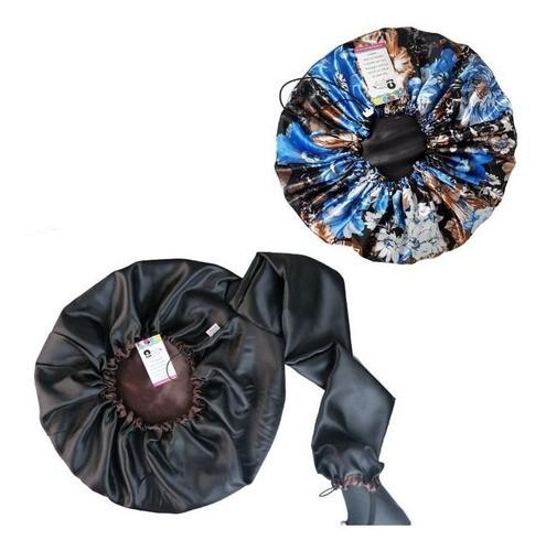 Kit 1 Difusora Marrom e 1 Touca Floral Azul II