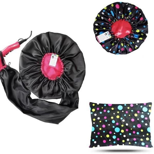 Kit 1 Difusora Pink - 1 Touca Poá Colorido e 1 Fronha Poá Colorido