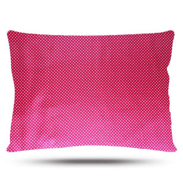 Kit 1 Difusora Pink - 1 Touca Poá Rosa e 1 Fronha Poá Rosa