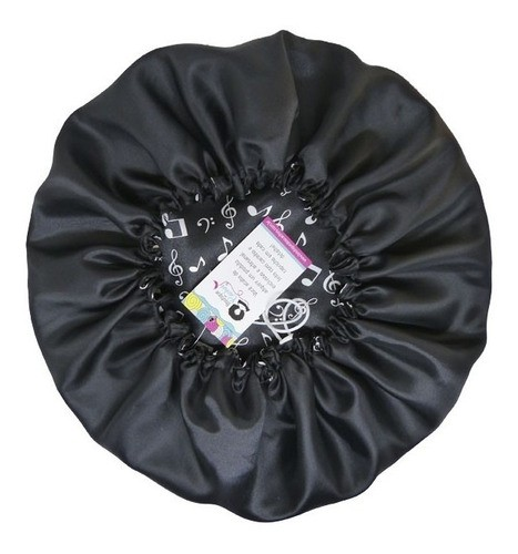 Kit 1 Difusora Preta - 1 Touca Musical Preta e 1 Xuxinha Preta