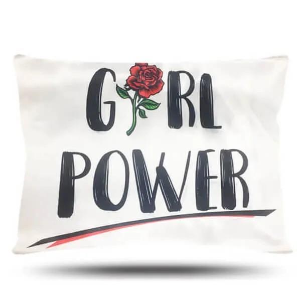Kit 1 Touca Cinza e 1 Fronha Girl Power
