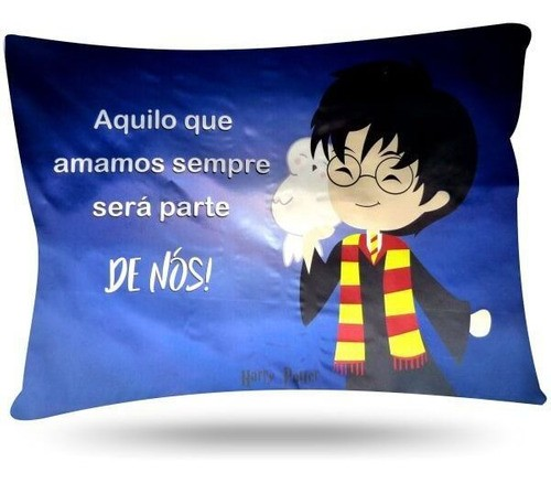 Kit 1 Touca Dourada e 1 Fronha Harry Potter