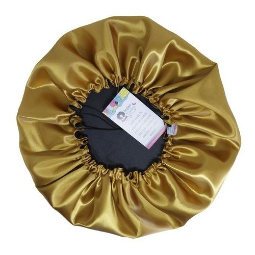 Kit 1 Touca Dourada e 1 Fronha Lhama
