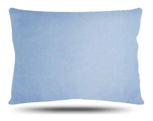 Kit 1 Touca e 2 Fronhas de Cetim - Azul Claro