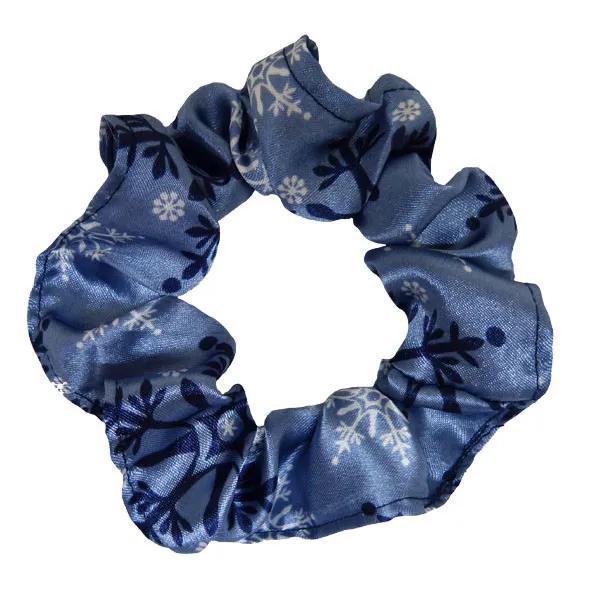 Kit 1 Touca Flocos Azul e 1 Xuxinha Flocos Azul