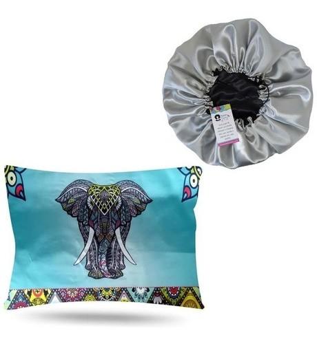 Kit 1 Touca Prata e 1 Fronha Elefante