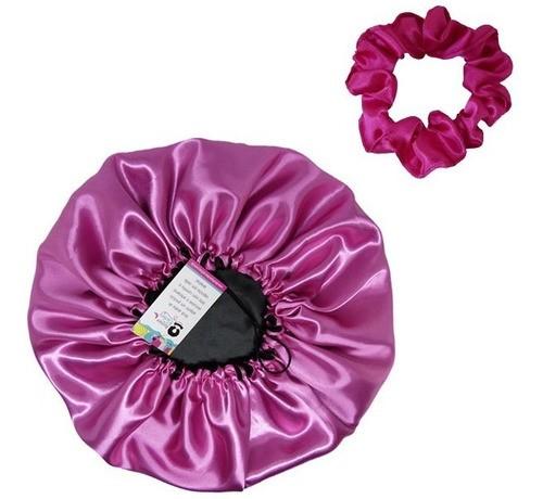 Kit 1 Touca Rosa Chiclete e 1 Xuxinha Pink