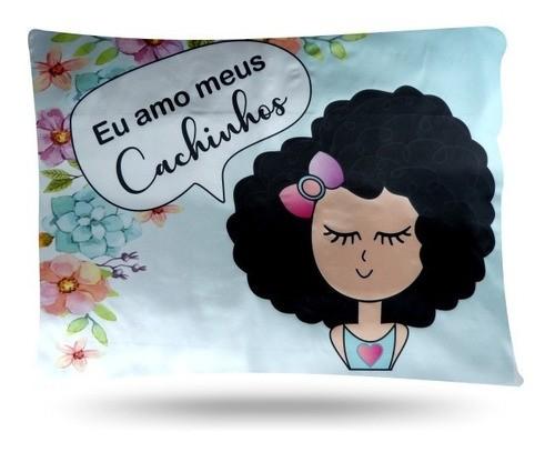 Kit 1 Touca Rosa Chiclete e 2 Fronhas Cachinhos III