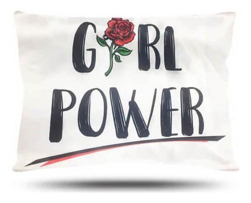 Kit 1 Touca Salmão e 1 Fronha Girl Power