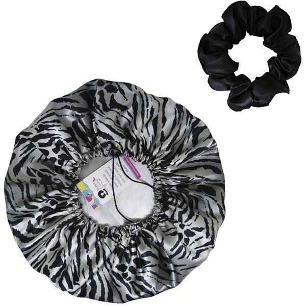 Kit 1 Touca Tigre Cinza e 1 Xuxinha Preta