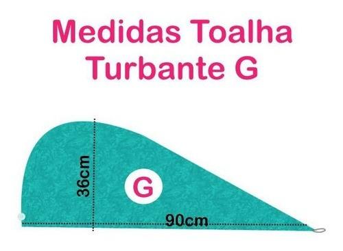 Kit 1 Turbante Azul Claro G e 1 Touca Floral Azul I