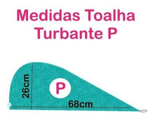 Kit 1 Turbante Branca P e 1 Touca Azul Claro