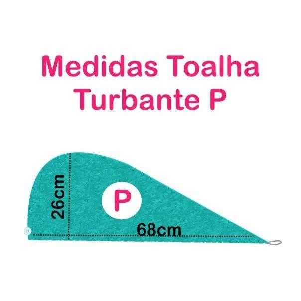Kit 1 Turbante Cinza P e 1 Touca Azul Claro