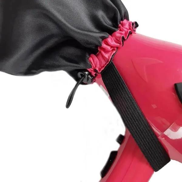 Kit com 10 Difusoras Toucas de Cetim - Preta com Pink