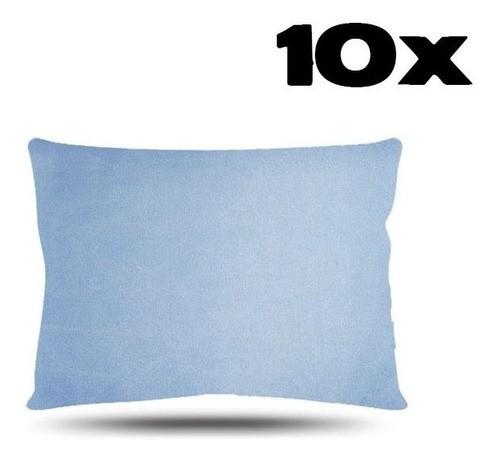 Kit com 10 Fronhas de Cetim - Azul Claro