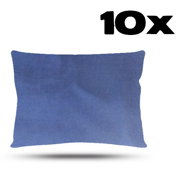 Kit com 10 Fronhas de Cetim - Azul Marinho