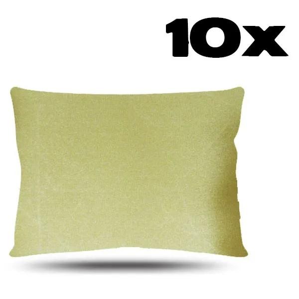 Kit com 10 Fronhas de Cetim - Dourada
