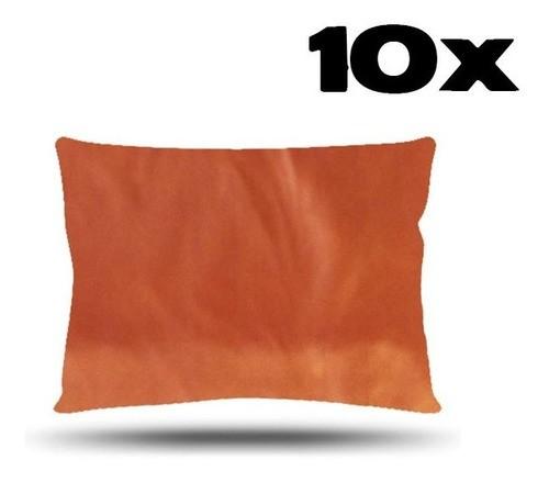 Kit com 10 Fronhas de Cetim - Ferrugem