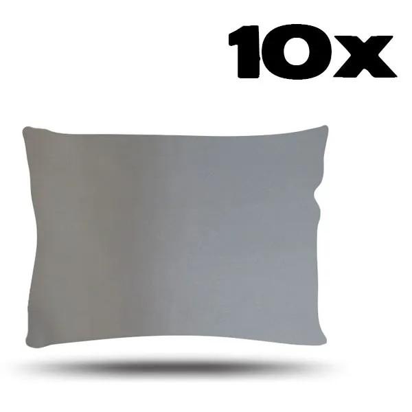 Kit com 10 Fronhas de Cetim - Prata