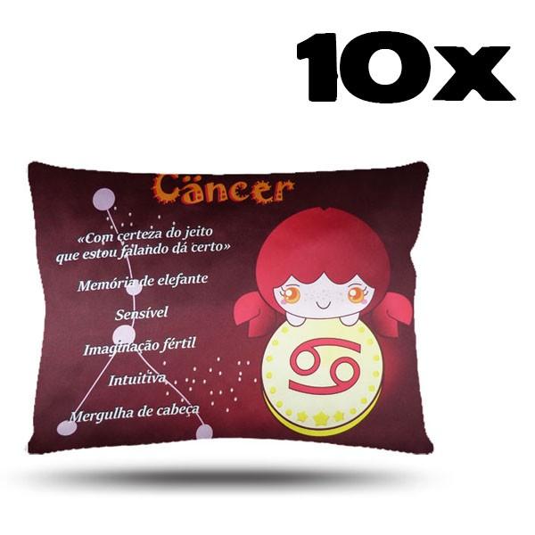 Kit com 10 Fronhas de Cetim - Signo - Câncer